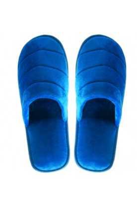 Zimt Pantoffeln Samt (Blau)
