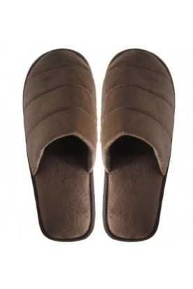Pantoufles à la cannelle Velours ( brun)