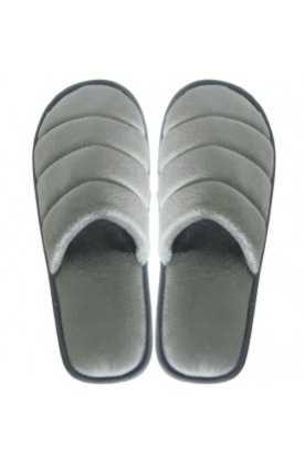 Zimt Pantoffeln Samt (Grau)