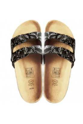 Sandales à la cannelle en cuir et en liege...