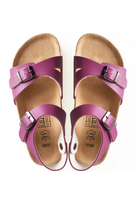 Leather & Cork Cinnamon Sandals Red Violet...