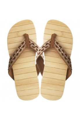 "Bamboo wood flip flops ""Mohongo"""