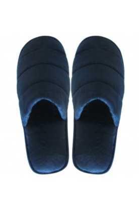 Pantoufles à la cannelle Velours (bleu foncé)