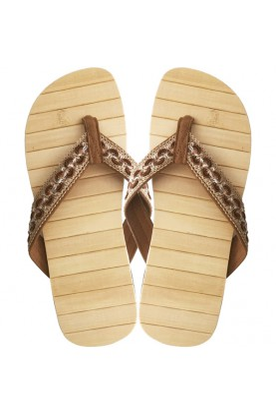 Bamboo wood flip flops...