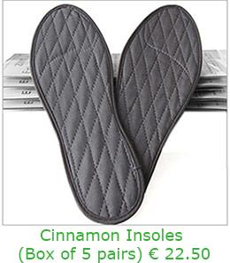 Cinnamon Insoles in a Box of 5