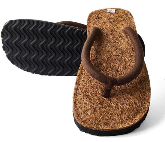 Kokos Flip Flops Stoff Riemen