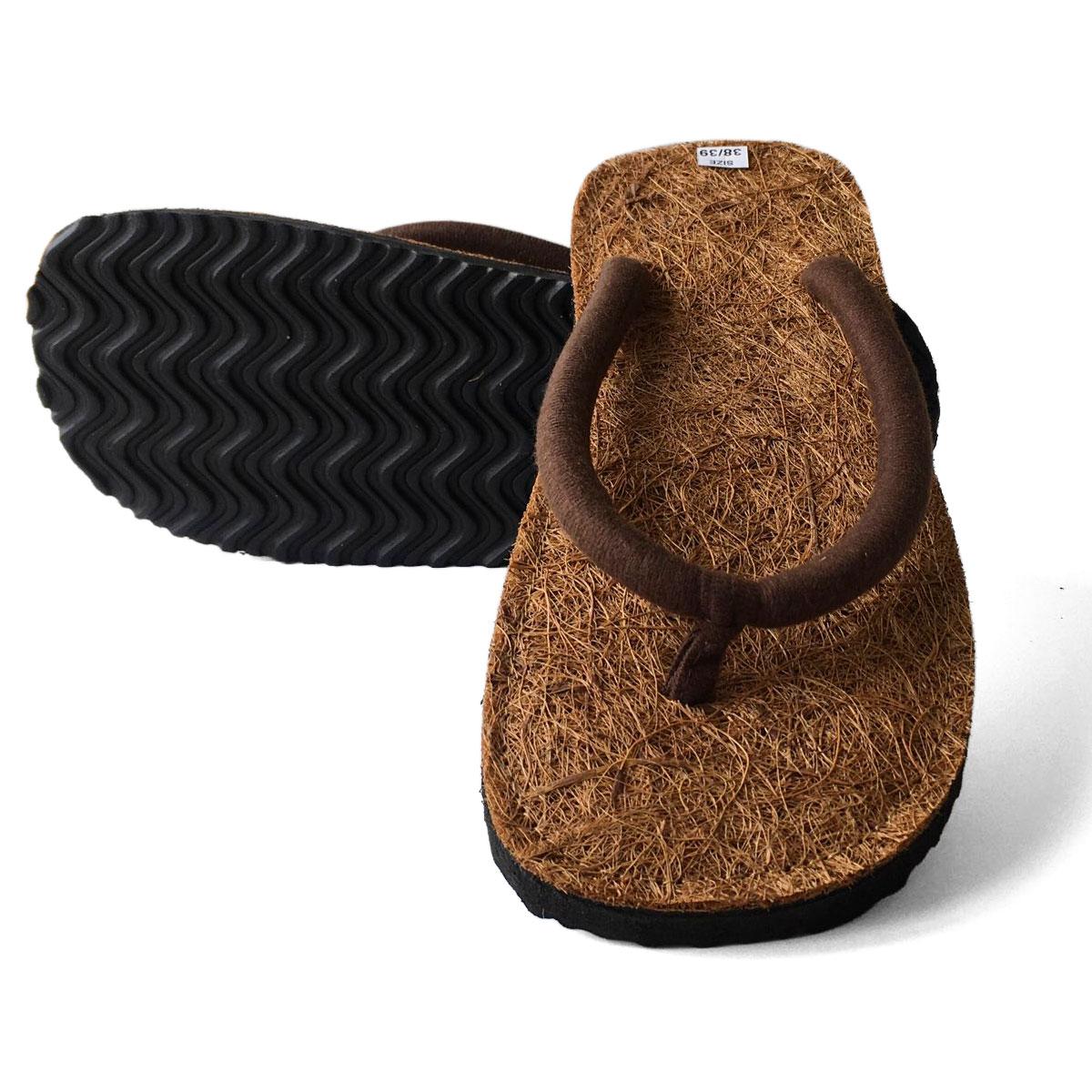Kokos Flip Flops - natürliche Schuhe