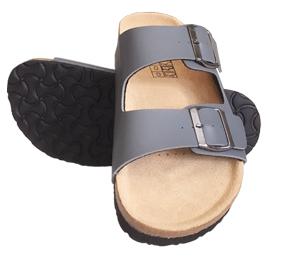 Bequeme Kork-Leder Sandale
