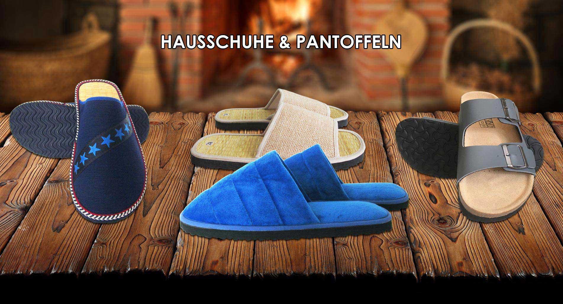 Hausschuhe, Pantoffeln und Sandalen